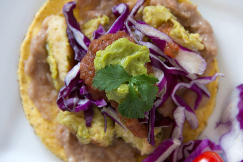 Chicken Avocado Verde Tostados #15MinuteSuppers