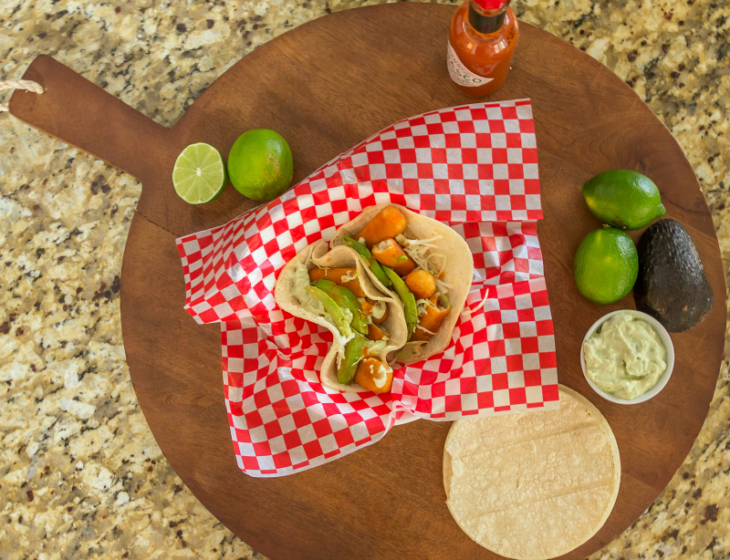 Fish Tacos with Avocado Cream Sauce #15MinuteSuppers