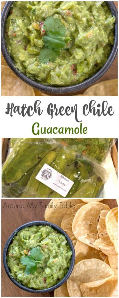 Green chile guacamole is made with Hatch green chiles, ripe avocados, and delicious spices. The perfect spicy guacamole!