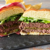 Green Chile Stuffed Burgers