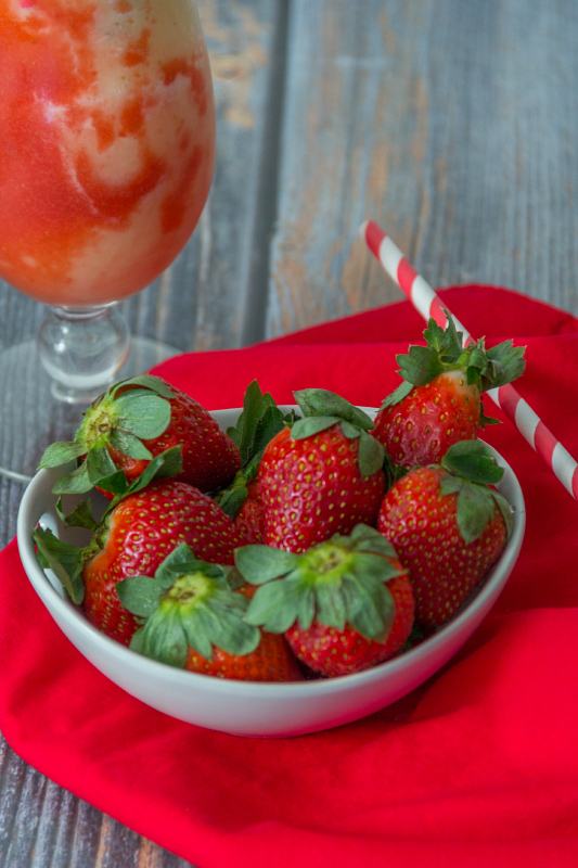 Lava Flow Smoothie...the perfect blend of sweetened strawberries, pineapple, and coconut!