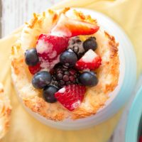 Macaroon Cups with Berries {Gluten Free, Dairy Free, Vegan}