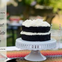Gluten Free – Vegan Coconut Chocolate Cake