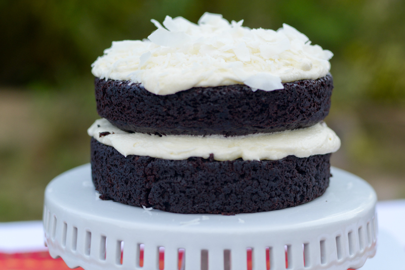 Gluten Free - Vegan Coconut Chocolate Cake