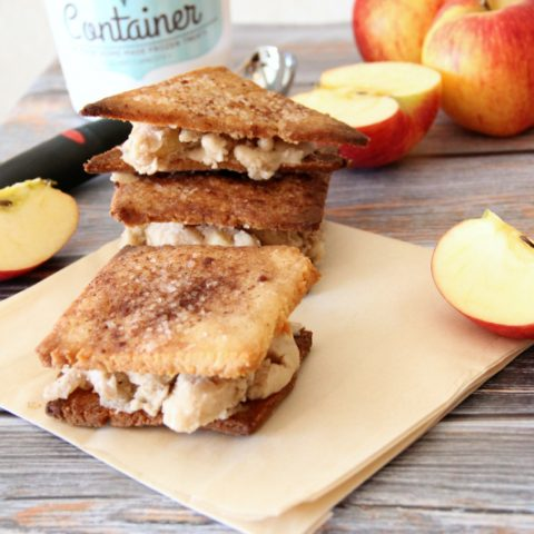 apple pie ice cream sandwiches {gluten free and dairy free}
