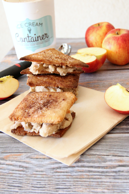 apple pie ice cream sandwiches {gluten free & dairy free}