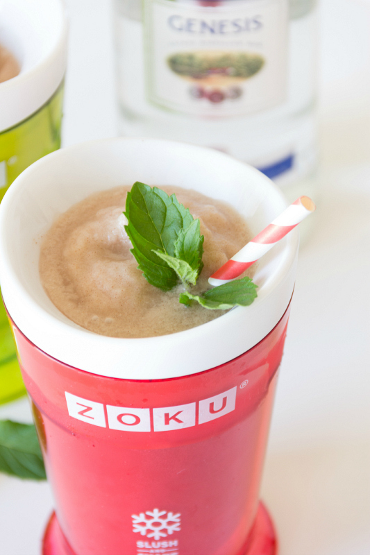 Be transported back to the beach with these Boozy Horchata Slushies