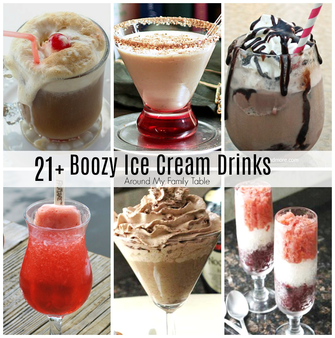 Boozy Alcoholic Ice Cream Drinks