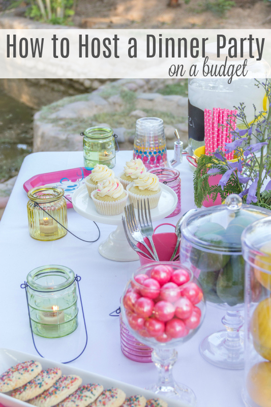 Having a few friends over doesn't have to break the bank. I've compiled a list of tips for How to Host a Dinner Party on a Budget. So call your friends and invited them over!