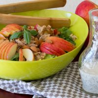 Apple Chicken Salad with Honey Poppy Seed Dressing