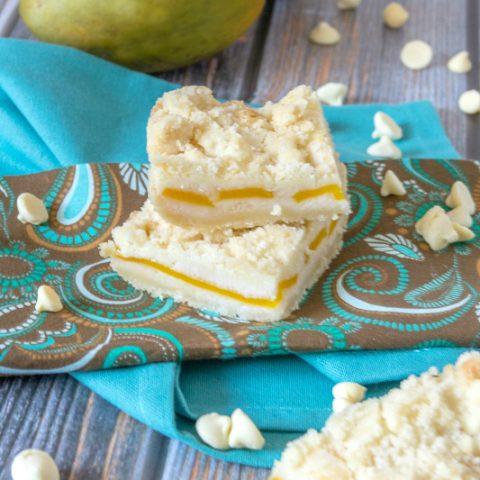 slices of mango gooey butter cake