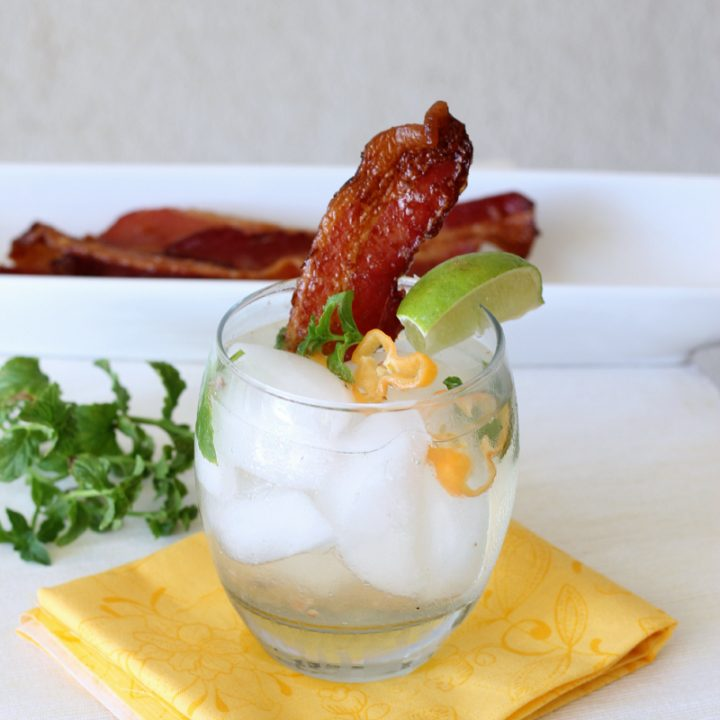 Bacon Habanero Mojito cocktail