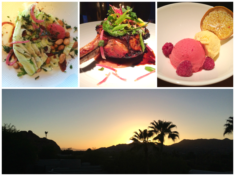 Dining at Elements located at Sanctuary on Camelback