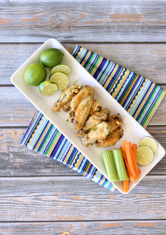 Margarita Lime Baked Chicken Wings