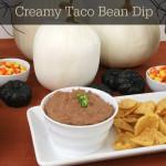 3 Ingredient Creamy Taco Bean Dip {Gluten Free}