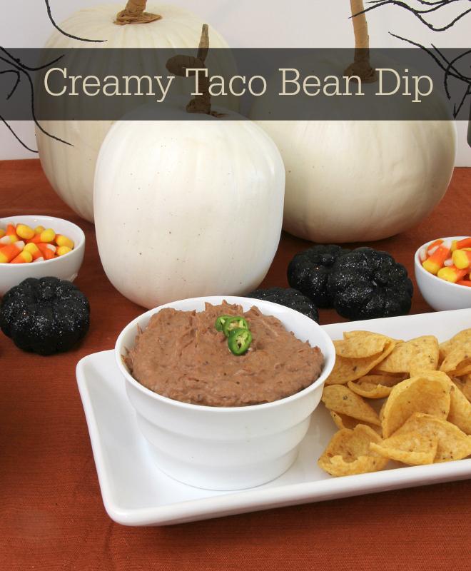 Creamy Taco Bean Dip {3 Ingredients & Gluten Free}