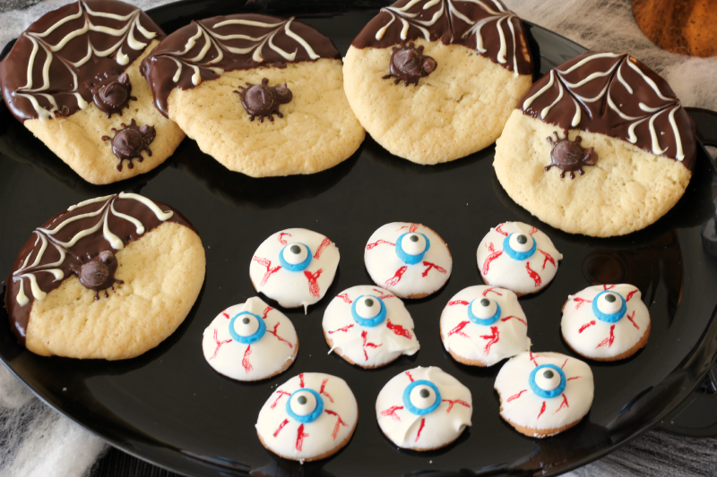 Spider Web Halloween Cookies - Around My Family Table