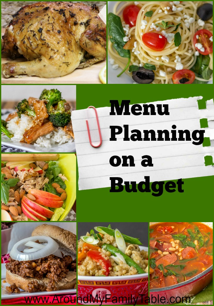Menu Planning on a Budget doesn't have to be scary. In fact the simple act of actually planning your menu will help you stick to your budget.  But, I also have a few more tricks up my sleeve for staying on budget while menu planning.