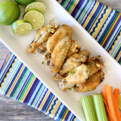 Margarita Lime Baked Chicken Wings