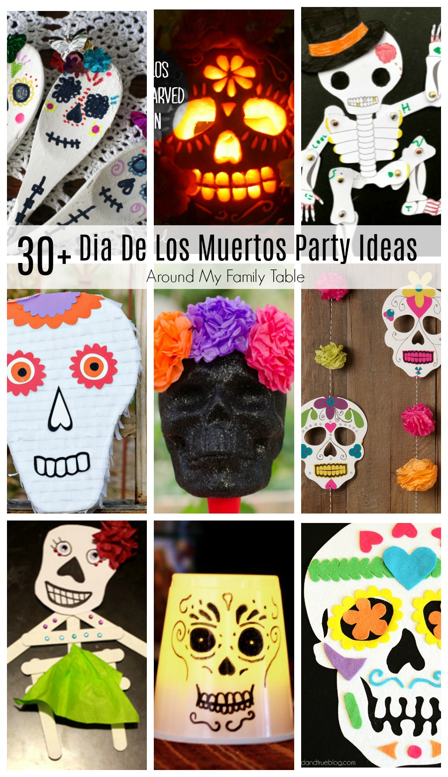 Celebrate Dia De Los Muertos (Day of the Dead) with these colorful & festive Dia De Los Muertos Party Ideas.
