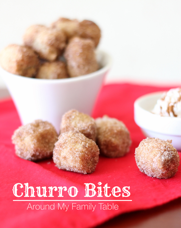 Churro Bites...taste just as good as the ones at Disneyland or Costco, but bite sized!