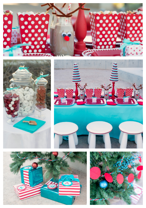 Red & Aqua Christmas Party