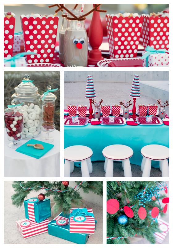 Red & Aqua Christmas Party