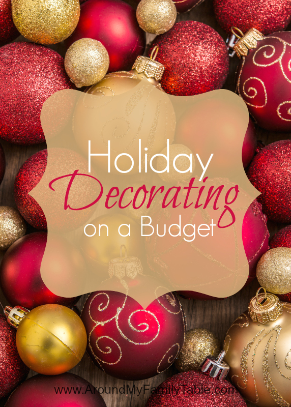 Holiday decorating on a budget around my family table - Decorating on a budget ...