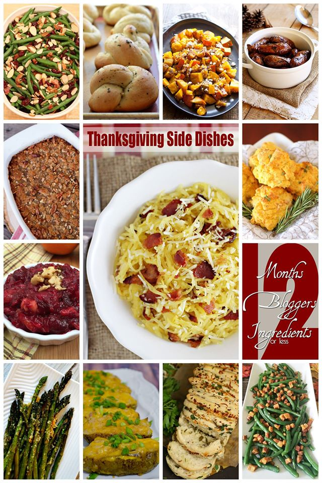 12 Thanksgiving Side Dishes #12bloggers