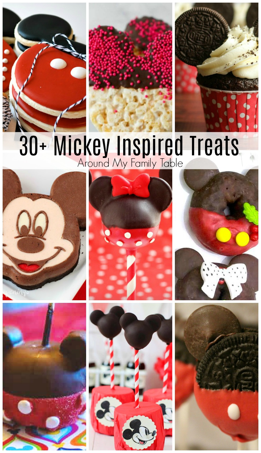 collage of mickey treats