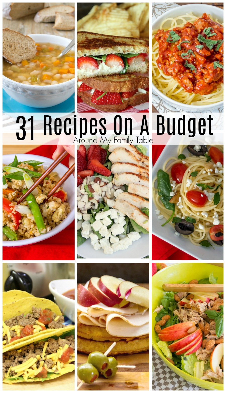 Recipes On A Budget Around My Family Table