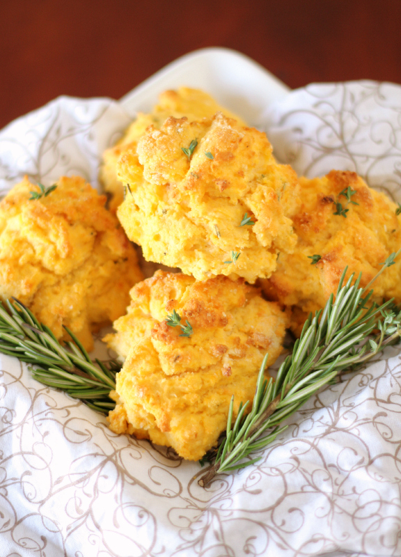 Herbed Sweet Potato Biscuits {gluten free}