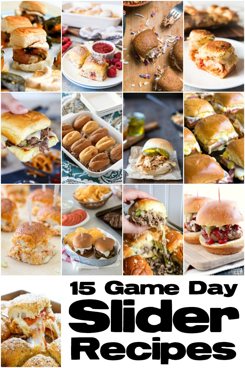 Check out all these delicious sliders! They would be perfect for an easy dinner or a homegating party! | 15 Game Day Sliders