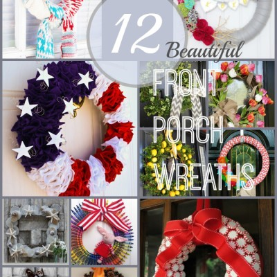 12 Beautiful Front Porch Wreaths