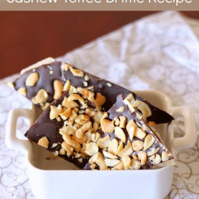 Cashew Toffee Brittle Recipe