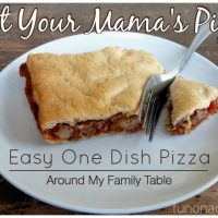 Easy One Dish Pizza
