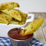 Easy Baked Garlic Parmesean Fries