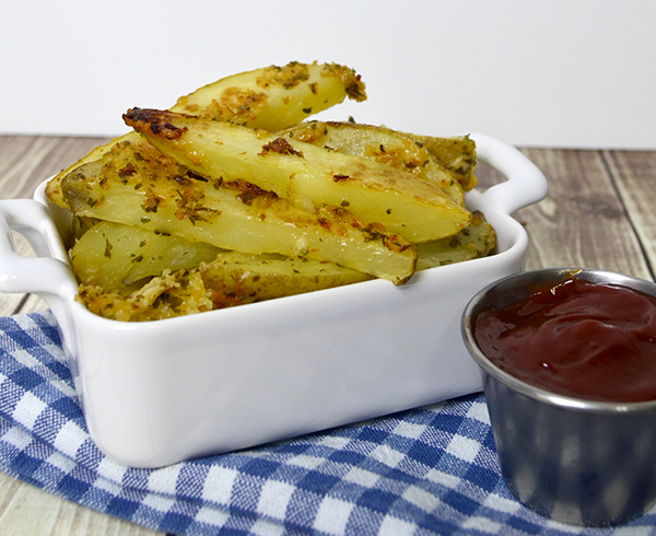 Easy Baked Garlic Parmesean Fries