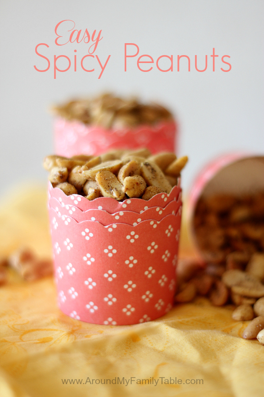 Easy Spicy Peanuts...perfect for gift giving, snacks, and road trips!