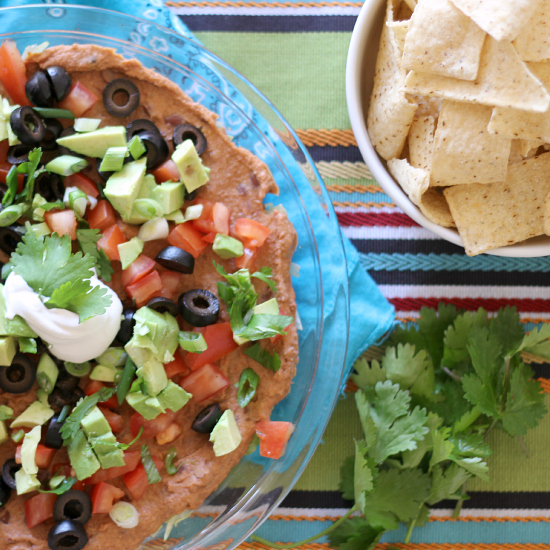 healthy layered dips...perfect for parties!