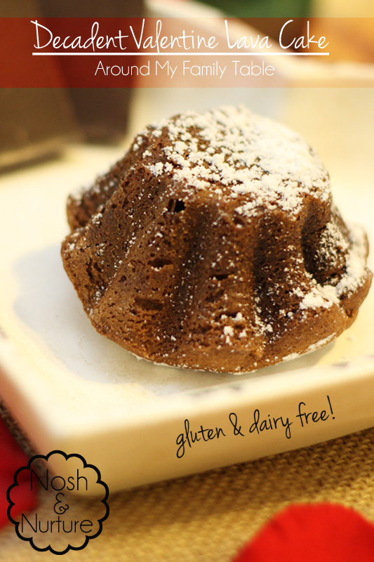 This gluten & dairy free decadent Lava Cake is the perfect dessert for Valentine's Day.