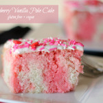 Strawberry Vanilla Poke Cake
