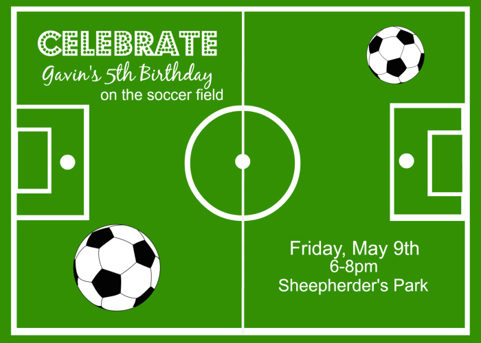 Soccer theme party ideas around my family table soccer party invitations filmwisefo Image collections