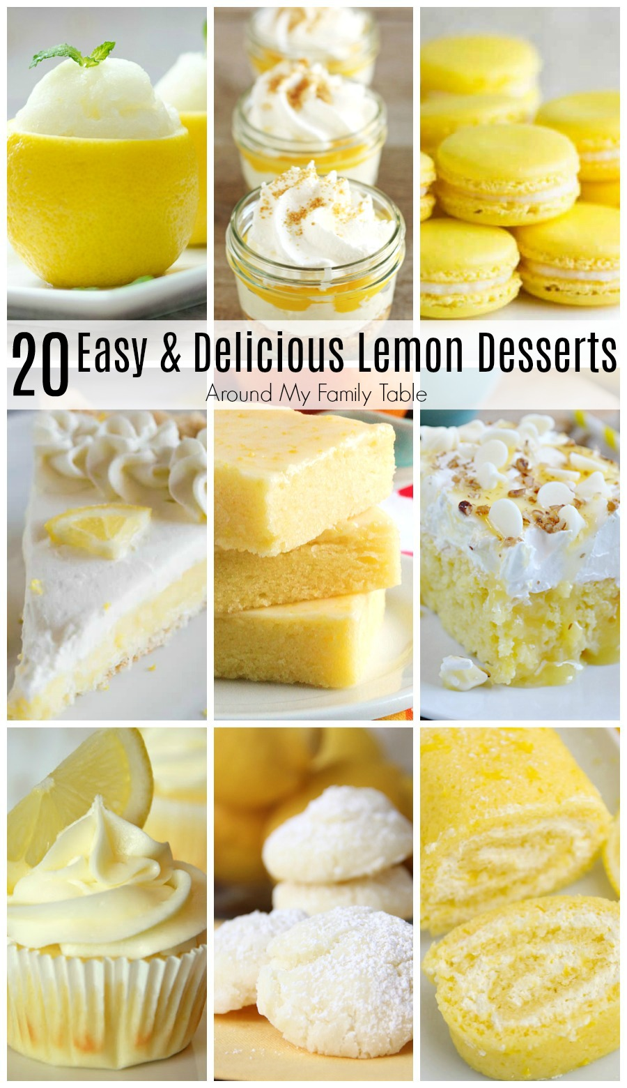You know you want to try one of these 20 Easy and Delicious Lemon Desserts...they are totally worth the pucker!
