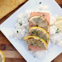 Grilled Lemon Thyme Salmon