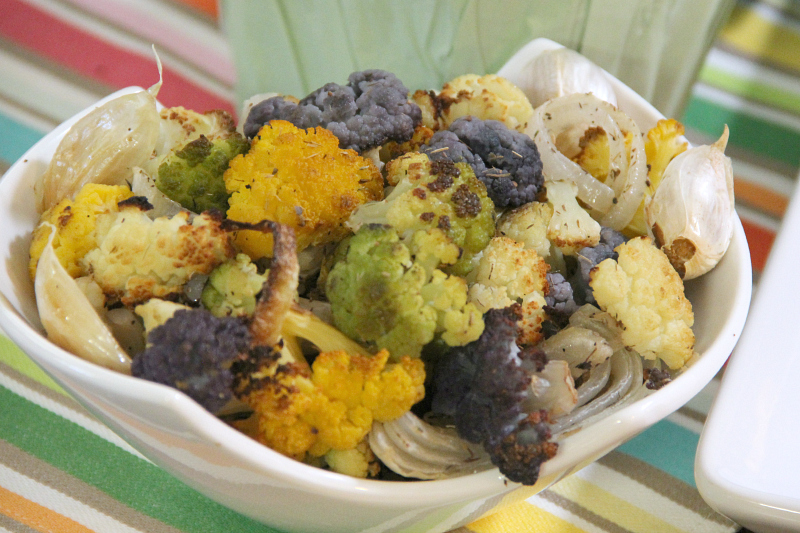 Roasted Colorful Cauliflower