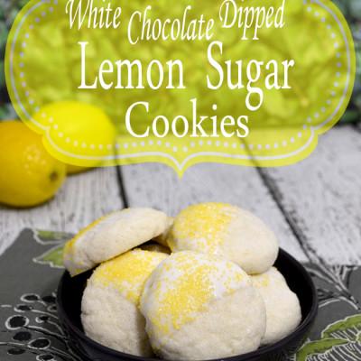 White Chocolate Dipped Lemon Sugar Cookies