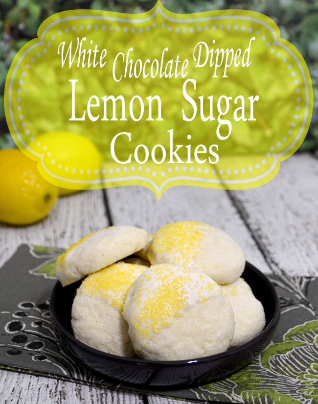 white chocolate dipped lemon sugar cookies 1