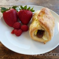 Sausage, Egg and Cheese Croissants