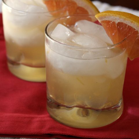 Fresh grapefruit ginger sparklers